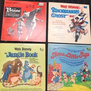 Vintage lot of Disney Records